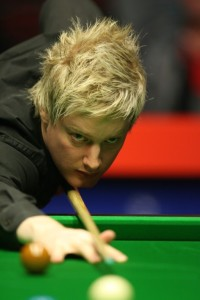 Neil Robertson is out of the World Championship