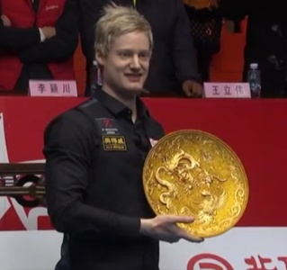 Neil Robertson is the 2013 China Open champion. Picture: CCTV - China.