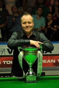 John Higgins wins the Victoria Bulgarian Open. Photo by Monique Limbos