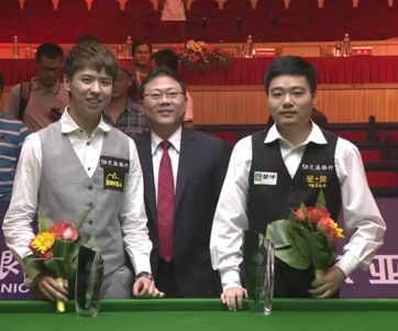 Xiao Guodong and Ding Junhui contested snooker's first ever all-Chinese ranking final.