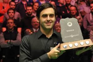 Ronnie O'Sullivan - Welsh Open champion 2014. Picture by Monique Limbos