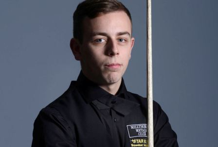 Oliver Brown. Picture by World Snooker