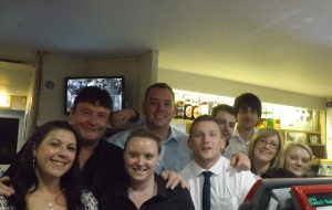 White with Cueball Derby staff. Picture by Nigel Slater
